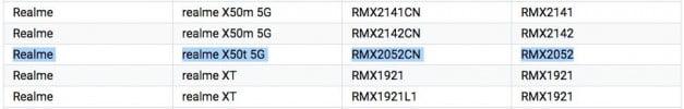 Realme X50t 5G