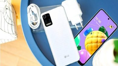 Photo of LG K52 base with a punch-hole display and quad cameras