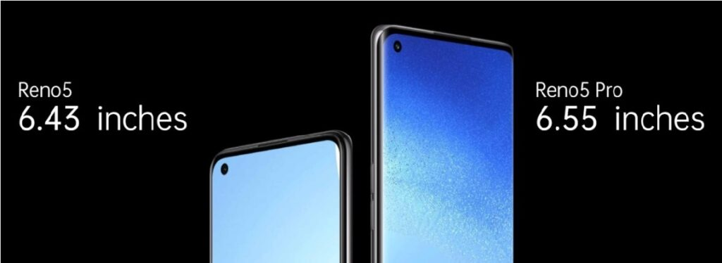 The Oppo unveiled oppo Reno5 5G and Reno5 Pro 5G with 90Hz OLED screens and 65W charging