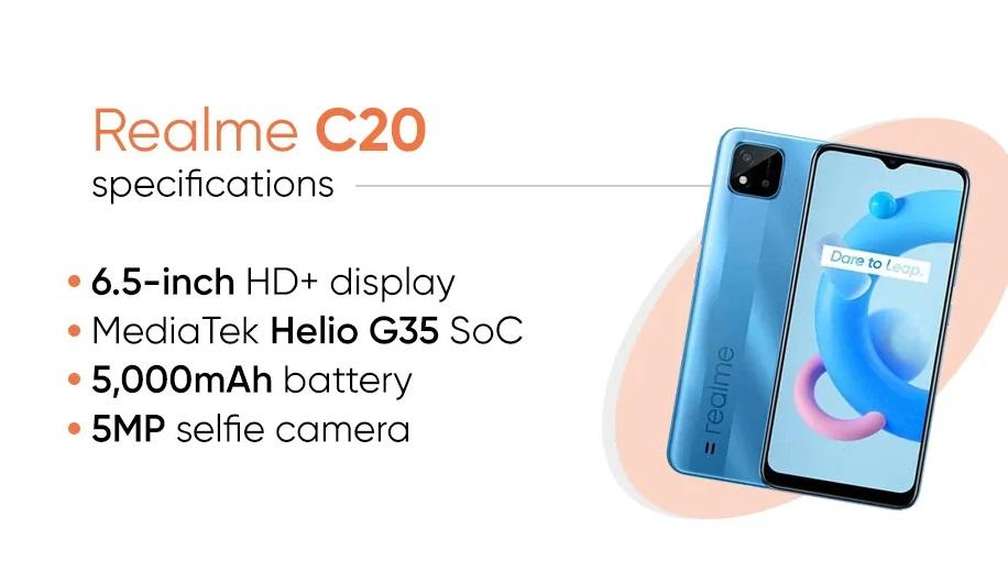 Realme C20 Details